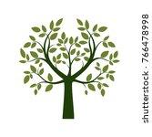 green tree. vector illustration. | Shutterstock .eps vector #766478998