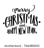 merry christmas happy new year... | Shutterstock .eps vector #766480042