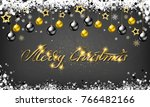 golden decoration ornament with ... | Shutterstock .eps vector #766482166