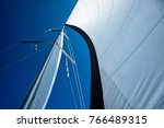 Sails Of A Sailing Yacht In Th...