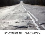 bad russian roads   hole in the ... | Shutterstock . vector #766493992
