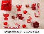 christmas background made of...   Shutterstock . vector #766495165