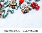 christmas and new year...   Shutterstock . vector #766495288
