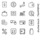 thin line icon set   receipt ... | Shutterstock .eps vector #766498942