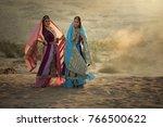 two happy women wearing iran or ... | Shutterstock . vector #766500622