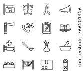 thin line icon set   shop... | Shutterstock .eps vector #766501456