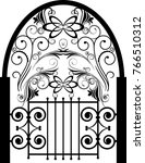vector floral design elements   | Shutterstock .eps vector #766510312