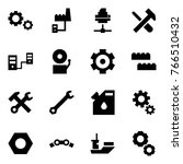 origami style icon set   gears... | Shutterstock .eps vector #766510432