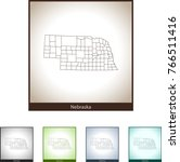 map of nebraska | Shutterstock .eps vector #766511416