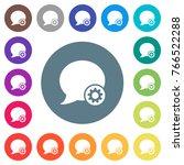 blog comment settings flat... | Shutterstock .eps vector #766522288
