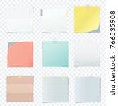 bright square colored school... | Shutterstock .eps vector #766535908