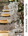 classy wedding setting.table... | Shutterstock . vector #766542736