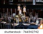 classy wedding setting.table...   Shutterstock . vector #766542742