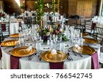 classy wedding setting.table... | Shutterstock . vector #766542745