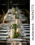 classy wedding setting.table... | Shutterstock . vector #766542772