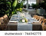 classy wedding setting.table... | Shutterstock . vector #766542775