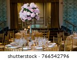 classy wedding setting.table... | Shutterstock . vector #766542796