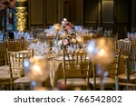 classy wedding setting.table... | Shutterstock . vector #766542802