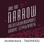 italic narrow sans serif font.... | Shutterstock .eps vector #766544332
