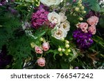 wedding ceremony decoration | Shutterstock . vector #766547242