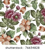 vector. flowers. beautiful... | Shutterstock .eps vector #76654828