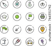 line vector icon set   medical... | Shutterstock .eps vector #766551742