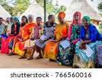 Small photo of KOLONYI, UGANDA – OCTOBER 02, 2016: Many pregnant woman waiting for an ultrasound scan at the Kolonyi hospital in Uganda. A German doctor is there to educate the local doctors.