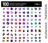 logo and icon mega collection.... | Shutterstock .eps vector #766560106