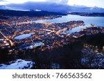 bergen city at night | Shutterstock . vector #766563562