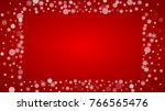 christmas snowflakes on red... | Shutterstock .eps vector #766565476