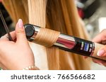 close up of a hairdresser... | Shutterstock . vector #766566682
