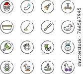line vector icon set   santa... | Shutterstock .eps vector #766567945