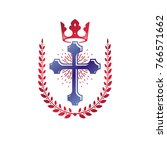 christian cross decorative... | Shutterstock .eps vector #766571662