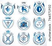 vector vintage heraldic coat of ... | Shutterstock .eps vector #766571932
