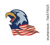 eagle logo mascot design...   Shutterstock .eps vector #766575025