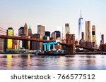 new york  usa. view of... | Shutterstock . vector #766577512