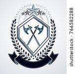 luxury heraldic vector emblem...   Shutterstock .eps vector #766582288