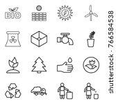 thin line icon set   bio  sun... | Shutterstock .eps vector #766584538