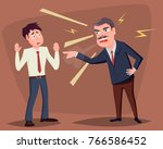 angry boss yelling at employee | Shutterstock .eps vector #766586452