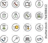 line vector icon set   phone...