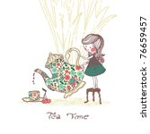 tea time | Shutterstock .eps vector #76659457