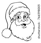 A Santa Claus Cartoon Character ...