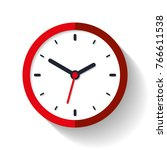 clock icon in flat style  timer ... | Shutterstock .eps vector #766611538