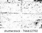 grunge black and white pattern. ... | Shutterstock . vector #766612702
