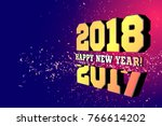 congratulations on the new year ... | Shutterstock .eps vector #766614202