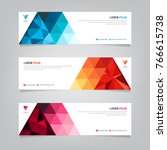 vector abstract web banner...   Shutterstock .eps vector #766615738
