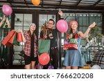 multiethnic diverse group of...   Shutterstock . vector #766620208