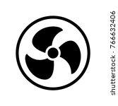 fan icon vector   Shutterstock .eps vector #766632406