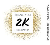 thank you 2k or two thousand... | Shutterstock .eps vector #766634992