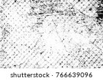 grunge black and white pattern. ... | Shutterstock . vector #766639096